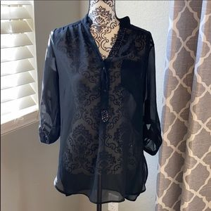 Truth NYC Black See Through Blouse